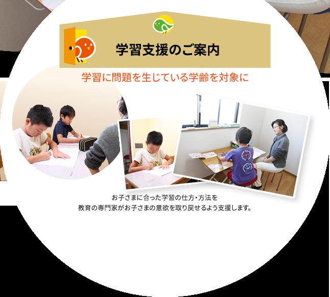 学習に問題を生じている学齢を対象に。学習支援
